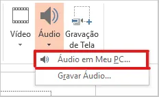 Como inserir audio no PowerPoint - Audio em meu pc - WikiAjuda